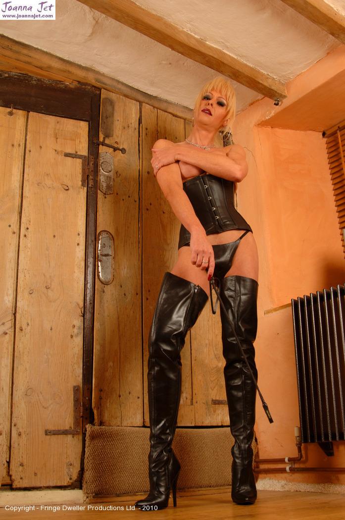 mistress Joanna jet leather