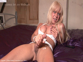 JetCam 05 - White outfit, White Cum
