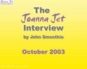 Fan Club Interview - October 2003